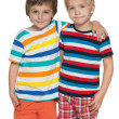 Two cheerful little boys — Stock Photo