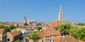 Bruges panoraması — Stok fotoğraf