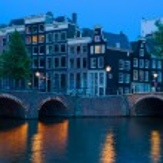 Bridge in Amsterdam at night — Stock Photo #34504835