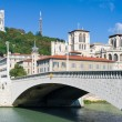 Lyon and Saone river in a summer day — Stock Photo