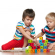 Two boys with blocks — Stock Photo #34795405