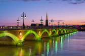 Bordeaux at a summer night — Stock Photo