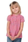 Skromná holčička — Stock fotografie