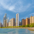 Chicago in a summer morning — Stock Photo