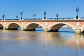 Stone Bridge in Bordeaux — Stock Photo