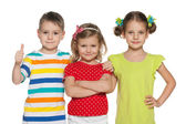 Cheerful preschoolers — Stock Photo