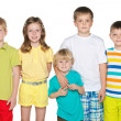 Friendship of five children — Stock Photo
