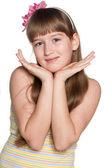 Shy preteen girl — Foto de Stock