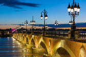 Summer night in Bordeaux — Stock Photo