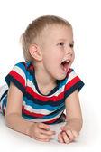 Shouting boy — Stock Photo