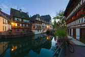 The Petite-France area in night Strasbourg. — Stock Photo