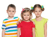 Smiling preschoolers — Stock Photo