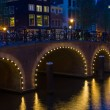 Stock Photo: Bridge in Amsterdam at black night