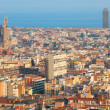 Barcelona at sunset time — Stock Photo