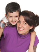 Smiling mother with her son — Stock Photo