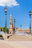 Spain Square in Seville in a summer day — Stock Photo