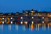 Toulouse at a summer night — Stock Photo