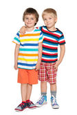 Two cheerful little friends — Stock Photo