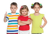 Joyful preschoolers — Stock Photo