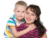 Usmívající se matka se svým synem — Stock fotografie