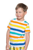 Smiling young boy looking aside — Stock Photo