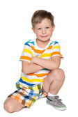 Smiling young boy — Stock Photo
