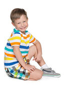 Little blond boy — Stock Photo