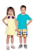 Two fashion children — Stock Photo