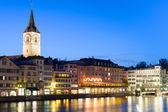 Zurich by night — Stockfoto
