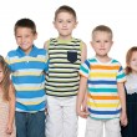 Group of five joyful kids — Stock Photo