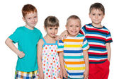 Group of four joyful kids — Stock Photo
