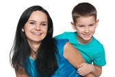 Happy little boy with his mother — Stock Photo