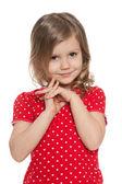 Ragazza carina prescolare — Foto Stock