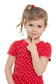 Clever preschool girl — Foto Stock