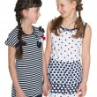 Young girl talks something to her friend — Stock Photo #42506003