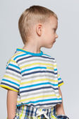 Little boy looks back — Stock Photo