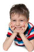 Laughing preschool boy — Stock Photo