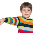 Little boy shows his finger aside — Stock Photo #43727711