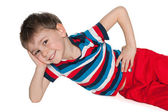 Cheerful little boy resting — Stock fotografie