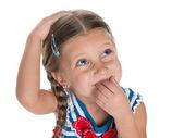 Dreaming cute little girl — Stockfoto