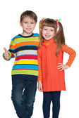 Two fashion preschoolers — Stock Photo