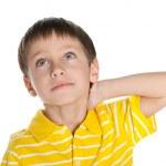 Thoughtful little boy looks up — Stock Photo #44652921