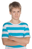 Portrait of a confident preteen boy — Stock Photo