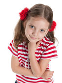 Smiling pretty preschool girl — Stock Photo