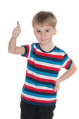 Little boy with his thumb up — Stock Photo