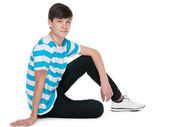 Teen boy on the floor — Foto Stock