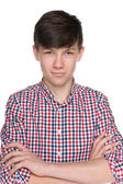Confident teen boy — Stock Photo