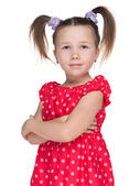 Portrait of a fashion little girl — Stockfoto
