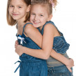 Two fashion little girls — Stock Photo #47557735