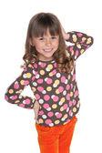 Happy fashion little girl — Stock Photo